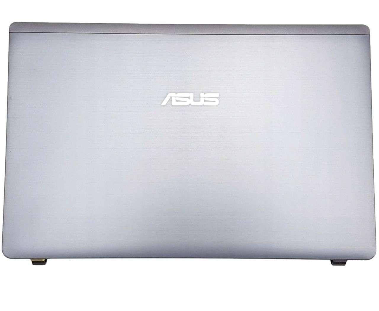 Capac Display BackCover Asus K55VD Carcasa Display Argintie imagine