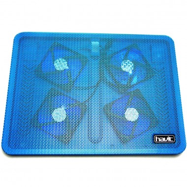 Cooler Stand Laptop Notebook Havit 4 Ventilatoare cu 2 Slot USB si LED