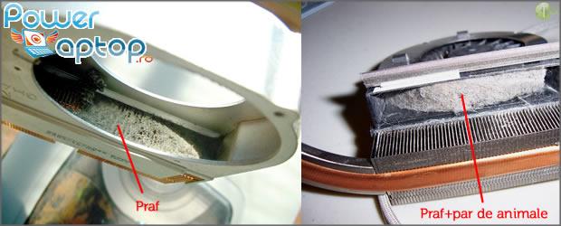 Curatare cooler sistem de racire laptop