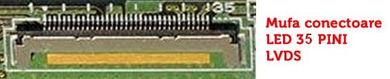 Mufa conectoare display laptop Sony Vaio VGN-SZ 13.3