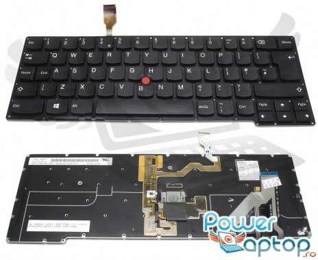 Tastatura Lenovo Thinkpad X1 Carbon Gen 2 2014 iluminata. Keyboard Lenovo Thinkpad X1 Carbon Gen 2 2014. Tastaturi laptop Lenovo Thinkpad X1 Carbon Gen 2 2014. Tastatura notebook Lenovo Thinkpad X1 Carbon Gen 2 2014