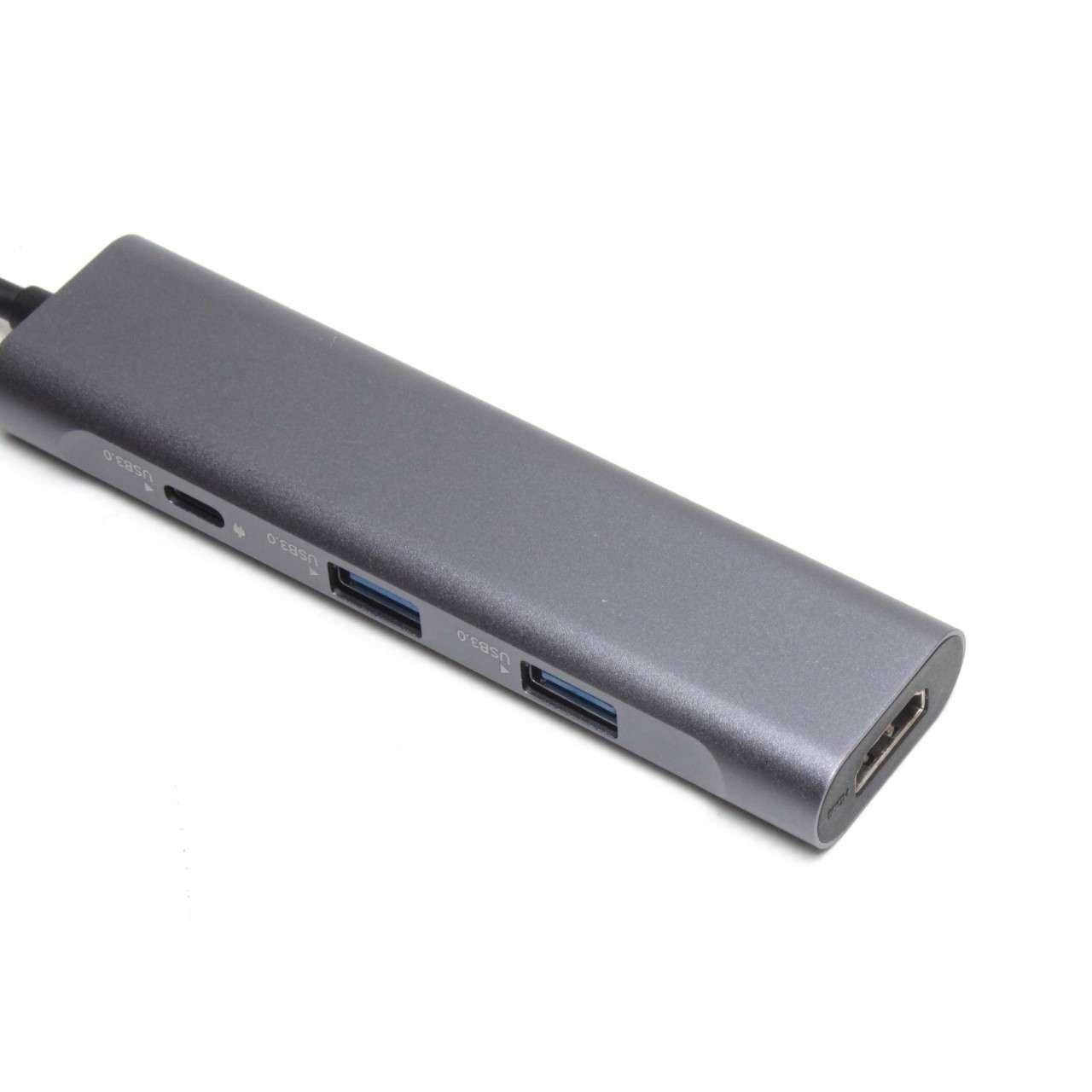 Hub USB Type C cu port HDMI 2 porturi USB 3.0 si 1 port USB-C 3.0 Aluminiu imagine powerlaptop.ro 2021