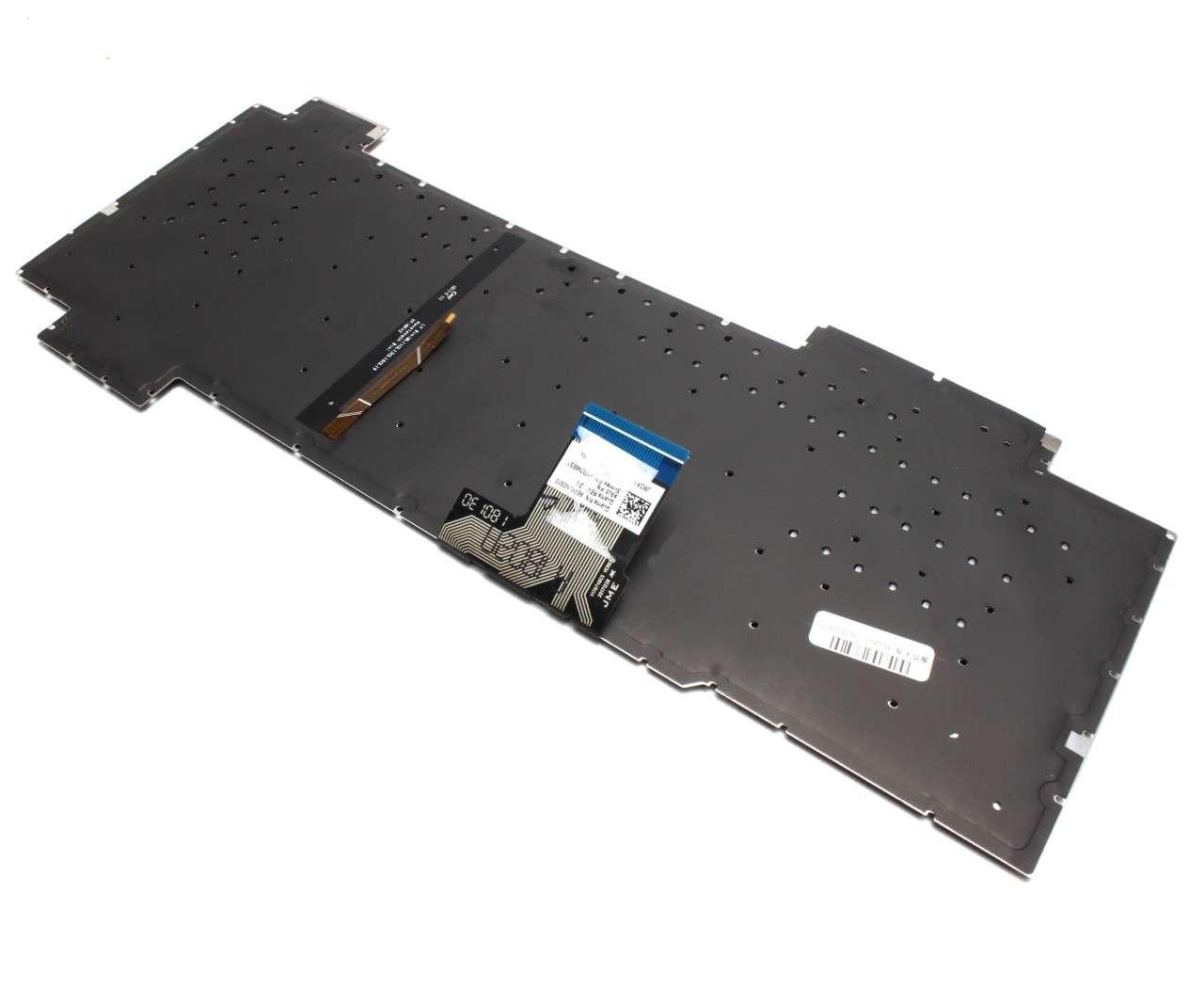 Tastatura neagra cu iluminare rosie pe marginea tastelor Asus TUF Gaming FX504GE-ES72 iluminata layout US fara rama enter mic imagine powerlaptop.ro 2021