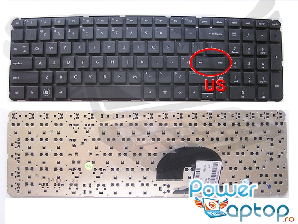 Tastatura HP 2B 40701Q100 layout US fara rama enter mic imagine powerlaptop.ro 2021