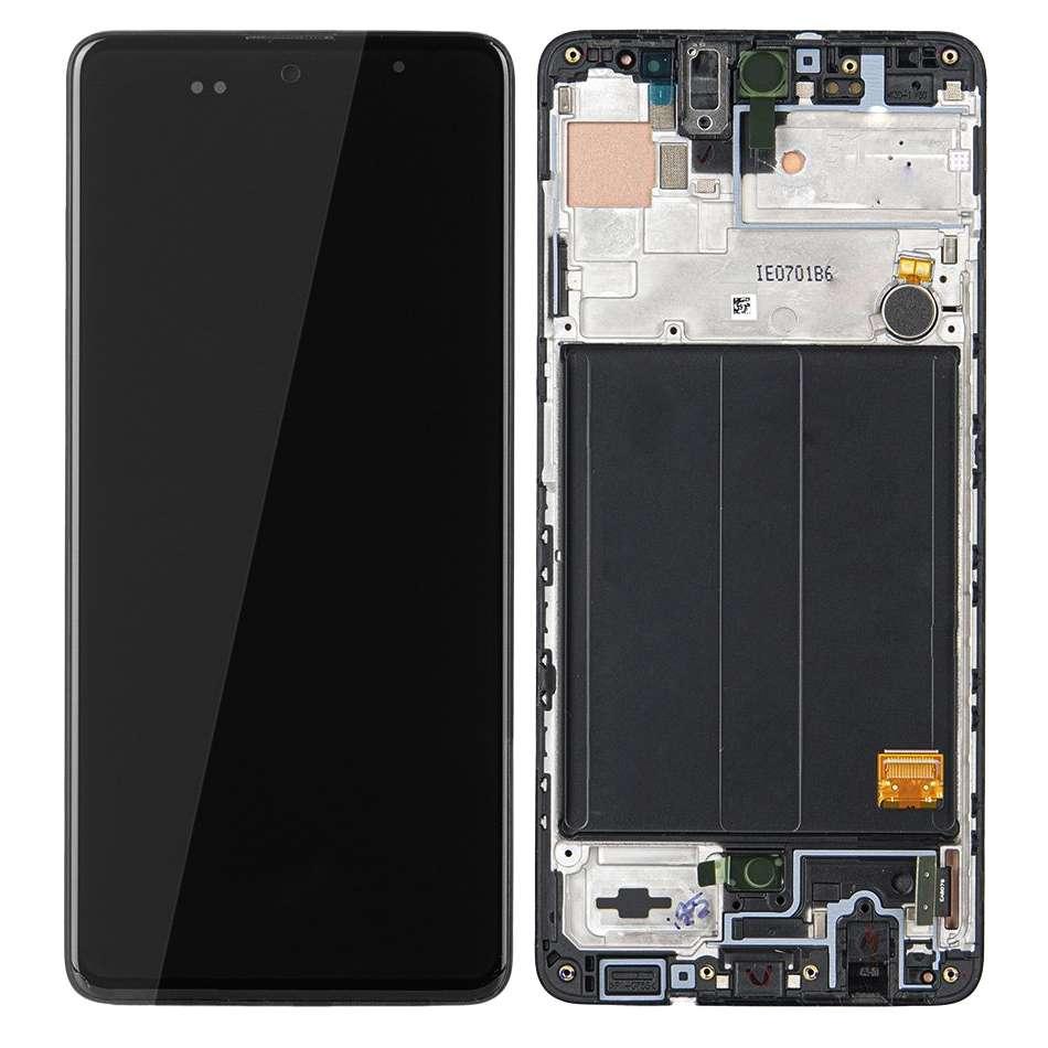 Display Samsung Galaxy A51 A515 Display Original Service Pack Black Negru imagine powerlaptop.ro 2021