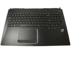 Tastatura Asus G750JZ iluminata cu Palmrest negru si Touchpad. Keyboard Asus G750JZ iluminata cu Palmrest negru si Touchpad. Tastaturi laptop Asus G750JZ iluminata cu Palmrest negru si Touchpad. Tastatura notebook Asus G750JZ iluminata cu Palmrest negru si Touchpad