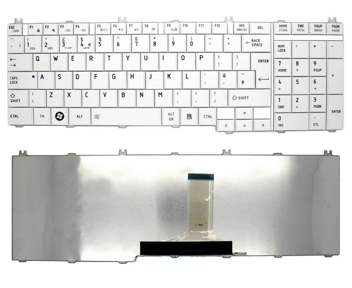 Tastatura Toshiba Satellite C650D alba imagine