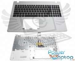 Tastatura Asus  R510CC neagra cu Palmrest alb. Keyboard Asus  R510CC neagra cu Palmrest alb. Tastaturi laptop Asus  R510CC neagra cu Palmrest alb. Tastatura notebook Asus  R510CC neagra cu Palmrest alb