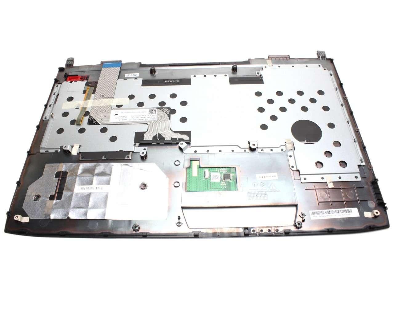 Tastatura Asus 90NB06G1-R30300 neagra cu Palmrest negru iluminata backlit imagine