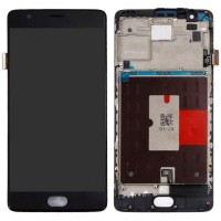 Ansamblu Display LCD  + Touchscreen OnePlus 3 Display OLED cu rama. Modul Ecran + Digitizer OnePlus 3 Display OLED cu rama