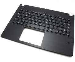 Tastatura Asus Pro P452SJ neagra cu Palmrest negru. Keyboard Asus Pro P452SJ neagra cu Palmrest negru. Tastaturi laptop Asus Pro P452SJ neagra cu Palmrest negru. Tastatura notebook Asus Pro P452SJ neagra cu Palmrest negru