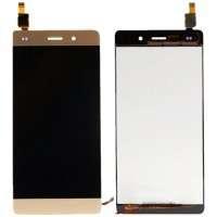 Ansamblu Display LCD + Touchscreen Huawei Ascend P8 Lite 2015 ALE-L21 Gold Auriu . Ecran + Digitizer Huawei Ascend P8 Lite 2015 ALE-L21 Gold Auriu