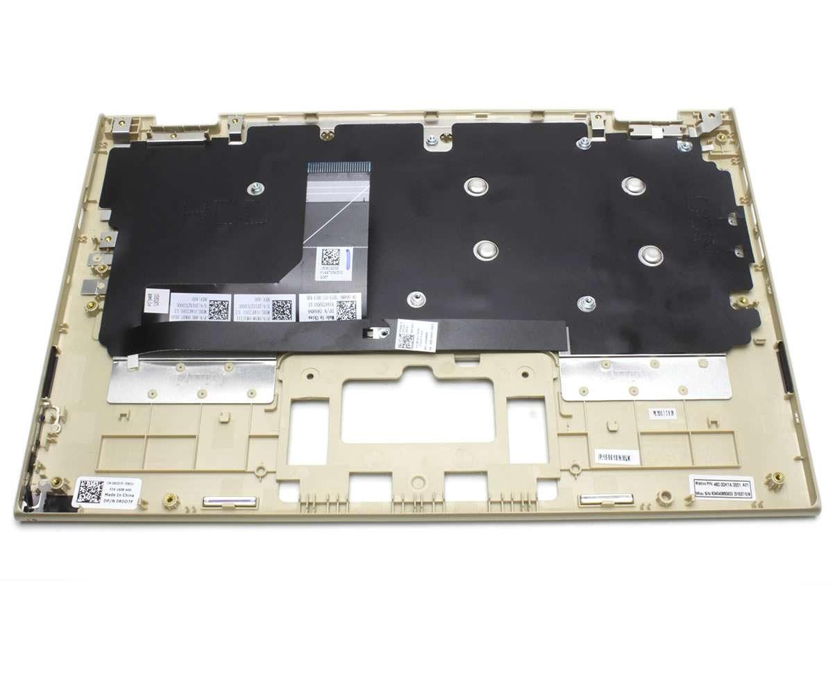 Tastatura Dell 0KNM 0M1UI11 Neagra cu Palmrest auriu imagine powerlaptop.ro 2021