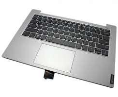 Tastatura Lenovo IdeaPad S340-14IIL Neagra cu Palmrest Gri si TouchPad iluminata backlit. Keyboard Lenovo IdeaPad S340-14IIL Neagra cu Palmrest Gri si TouchPad. Tastaturi laptop Lenovo IdeaPad S340-14IIL Neagra cu Palmrest Gri si TouchPad. Tastatura notebook Lenovo IdeaPad S340-14IIL Neagra cu Palmrest Gri si TouchPad