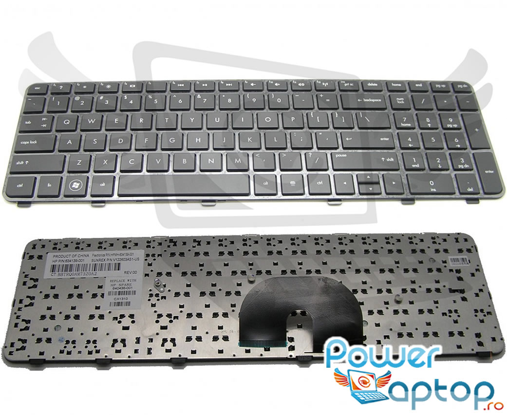 Tastatura HP 665938 171 Neagra imagine powerlaptop.ro 2021