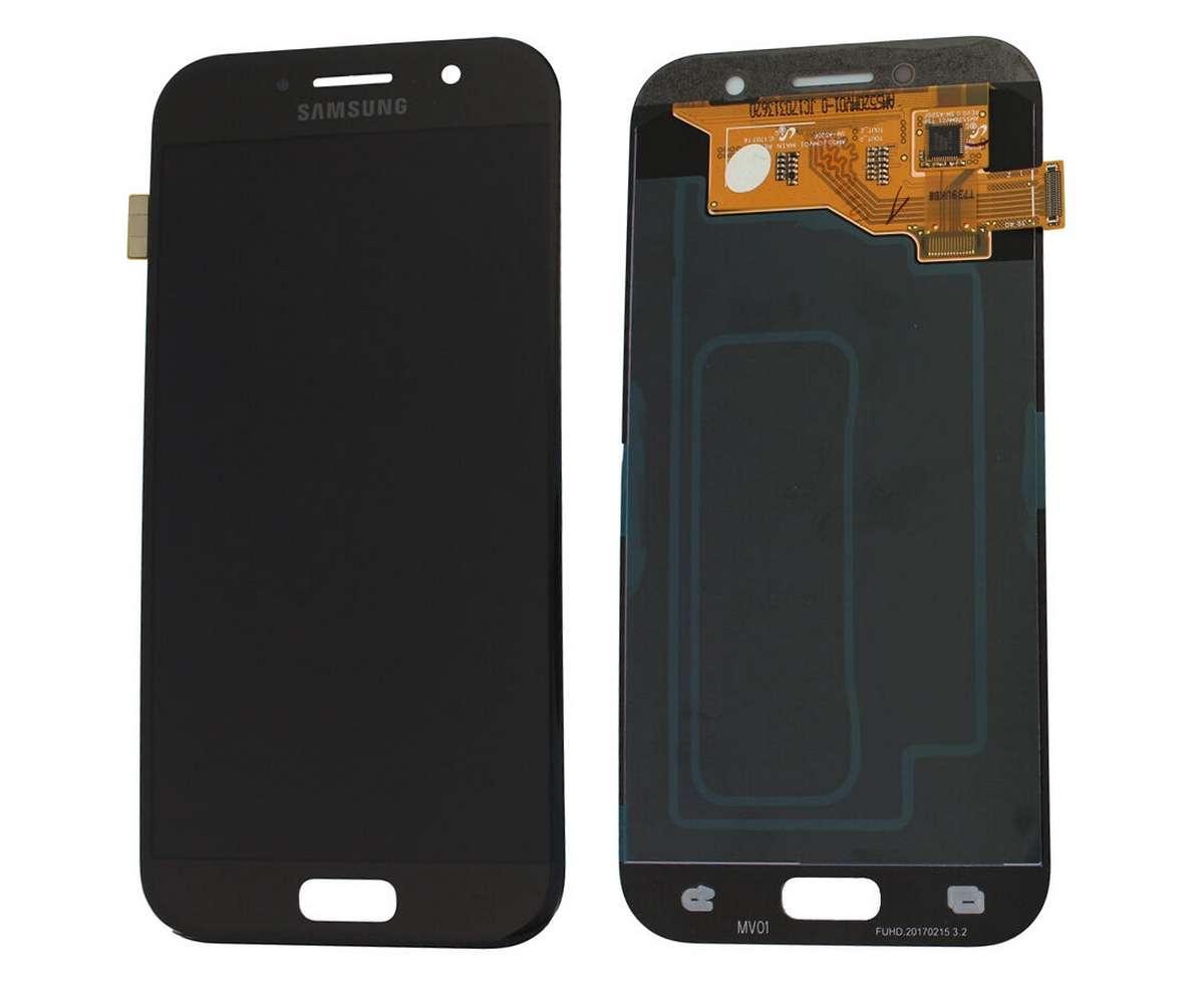 Display Samsung Galaxy A5 2017 A520 A520F Display OLED AAA Black Negru imagine powerlaptop.ro 2021