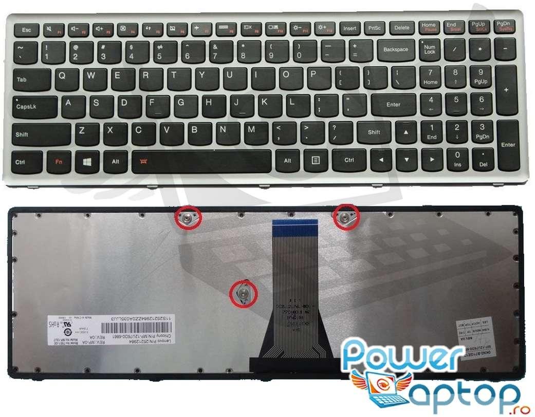Tastatura Lenovo 25213040 Rama gri imagine powerlaptop.ro 2021