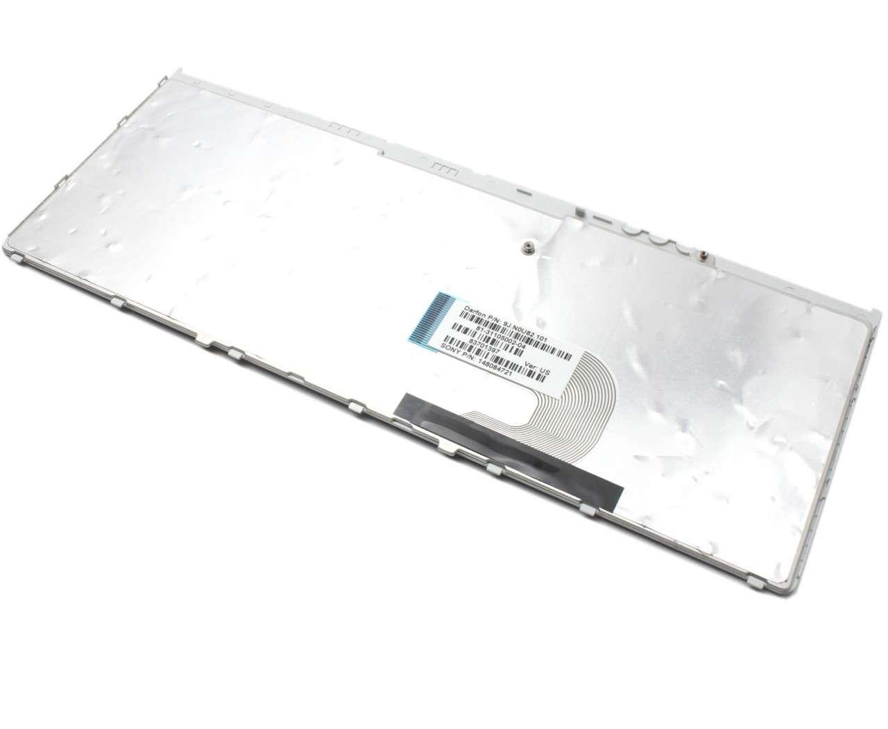 Tastatura Sony Vaio VGN-FW93XS neagra cu rama gri imagine powerlaptop.ro 2021