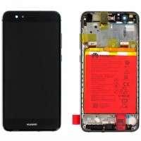 Ansamblu Display LCD + Touchscreen Huawei P10 Lite WAS-LX1 WAS-LX1A Display Original Service Pack Black Negru . Ecran + Digitizer Huawei P10 Lite WAS-LX1 WAS-LX1A Display Original Service Pack Black Negru
