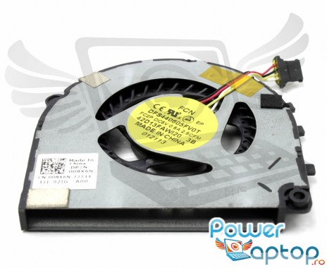 Cooler laptop Dell  46V55. Ventilator procesor Dell  46V55. Sistem racire laptop Dell  46V55
