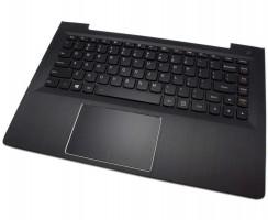 Tastatura Lenovo IdeaPad 500-14ISK Neagra cu Palmrest negru iluminata backlit. Keyboard Lenovo IdeaPad 500-14ISK Neagra cu Palmrest negru. Tastaturi laptop Lenovo IdeaPad 500-14ISK Neagra cu Palmrest negru. Tastatura notebook Lenovo IdeaPad 500-14ISK Neagra cu Palmrest negru