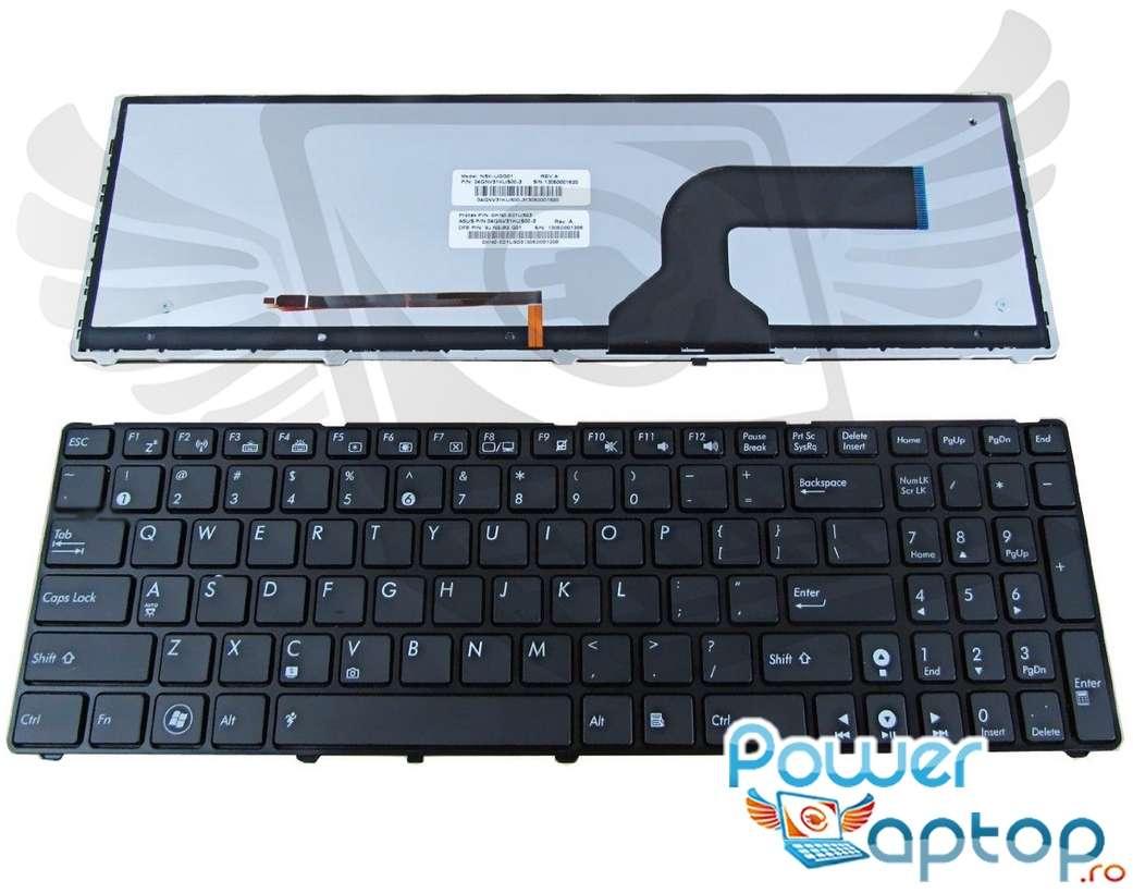 Tastatura Asus N61 iluminata backlit imagine powerlaptop.ro 2021