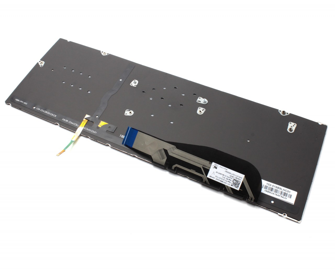 Tastatura Dark Blue Asus 0KN0-UW1TU22 iluminata layout TR UK fara rama enter mare imagine powerlaptop.ro 2021