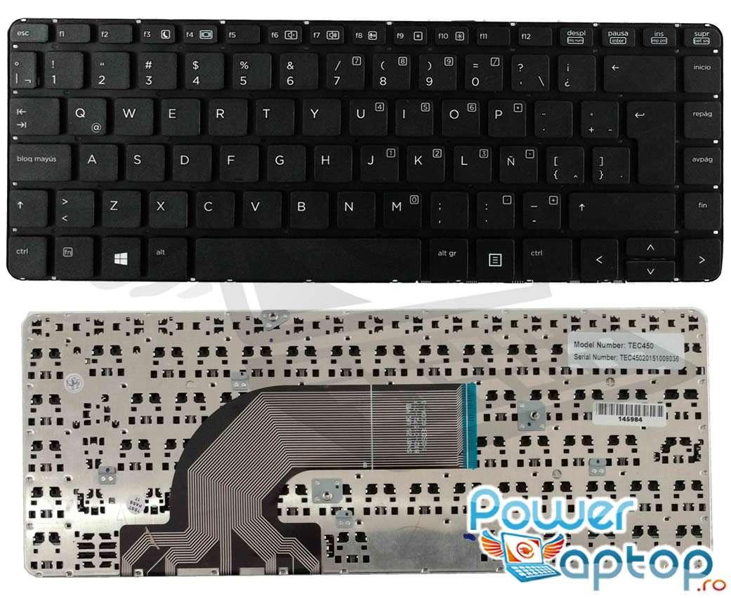Tastatura neagra HP ProBook 445 G2 layout UK fara rama enter mare imagine powerlaptop.ro 2021