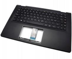 Tastatura Lenovo 6510203500029D Neagra cu Palmrest negru iluminata backlit. Keyboard Lenovo 6510203500029D Neagra cu Palmrest negru. Tastaturi laptop Lenovo 6510203500029D Neagra cu Palmrest negru. Tastatura notebook Lenovo 6510203500029D Neagra cu Palmrest negru