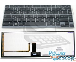 Tastatura Toshiba PSU4RR iluminata backlit. Keyboard Toshiba PSU4RR iluminata backlit. Tastaturi laptop Toshiba PSU4RR iluminata backlit. Tastatura notebook Toshiba PSU4RR iluminata backlit