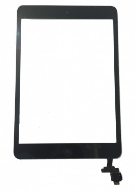 Digitizer Touchscreen Apple iPad Mini A1432, A1455, A1454 cu buton home si cip IC. Geam Sticla Tableta Apple iPad Mini A1432, A1455, A1454 cu buton home si cip IC