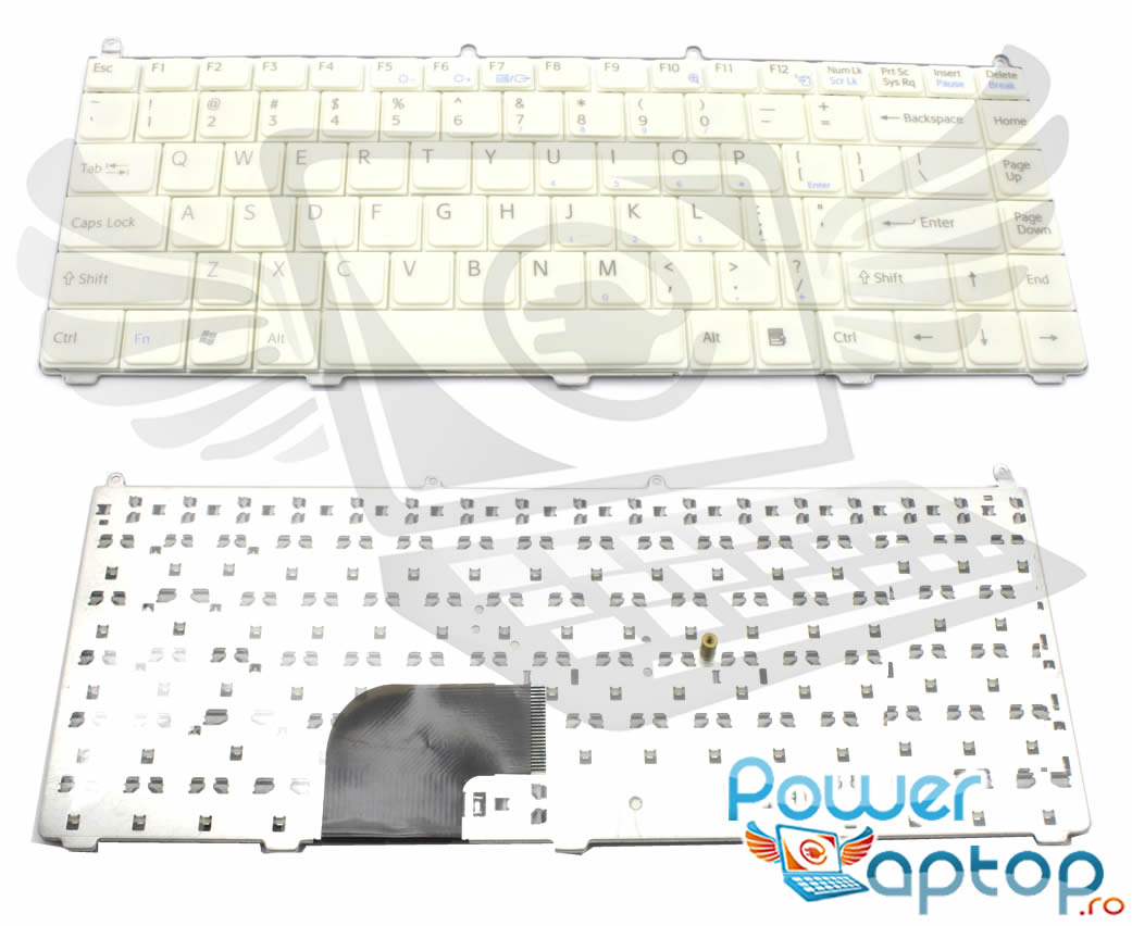 Tastatura Sony Vaio VGN AR90PS alba imagine powerlaptop.ro 2021