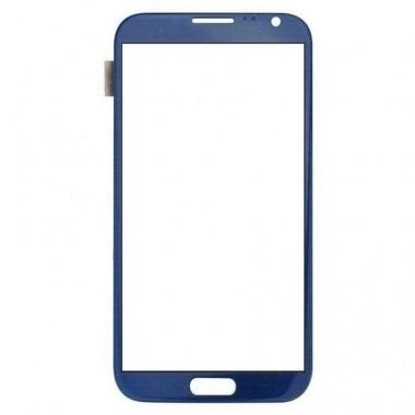 Touchscreen Digitizer Samsung Galaxy Note 2 N7105 albastru.Geam Sticla Smartphone Telefon Mobil Samsung Galaxy Note 2 N7105 albastru