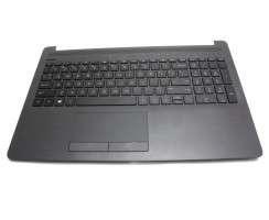 Tastatura HP 15-da0041nq neagra cu Palmrest negru. Keyboard HP 15-da0041nq neagra cu Palmrest negru. Tastaturi laptop HP 15-da0041nq neagra cu Palmrest negru. Tastatura notebook HP 15-da0041nq neagra cu Palmrest negru