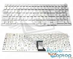 Tastatura Sony Vaio VPCCB190X argintie. Keyboard Sony Vaio VPCCB190X. Tastaturi laptop Sony Vaio VPCCB190X. Tastatura notebook Sony Vaio VPCCB190X