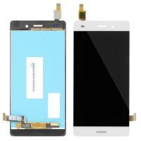 Ansamblu Display LCD + Touchscreen Huawei P8 Lite 2015 ALE-L21 White Alb . Ecran + Digitizer Huawei P8 Lite 2015 ALE-L21 White Alb