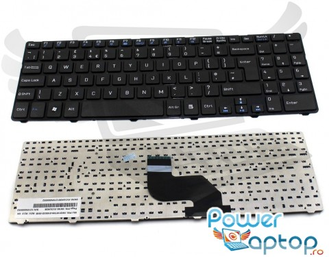 Tastatura Medion Akoya MD99060 cu rama. Keyboard Medion Akoya MD99060 cu rama. Tastaturi laptop Medion Akoya MD99060 cu rama. Tastatura notebook Medion Akoya MD99060 cu rama