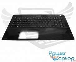 Tastatura Toshiba Satellite L55D-B neagra cu Palmrest negru. Keyboard Toshiba Satellite L55D-B neagra cu Palmrest negru. Tastaturi laptop Toshiba Satellite L55D-B neagra cu Palmrest negru. Tastatura notebook Toshiba Satellite L55D-B neagra cu Palmrest negru
