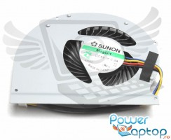 Cooler laptop Dell  09C7T7 Mufa 4 pini. Ventilator procesor Dell  09C7T7. Sistem racire laptop Dell  09C7T7