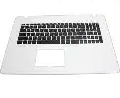 Tastatura Asus X751L neagra cu Palmrest alb. Keyboard Asus X751L neagra cu Palmrest alb. Tastaturi laptop Asus X751L neagra cu Palmrest alb. Tastatura notebook Asus X751L neagra cu Palmrest alb