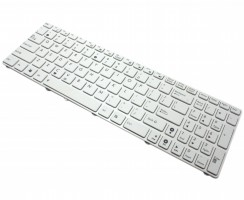 Tastatura Asus  A52JU alba. Keyboard Asus  A52JU alba. Tastaturi laptop Asus  A52JU alba. Tastatura notebook Asus  A52JU alba