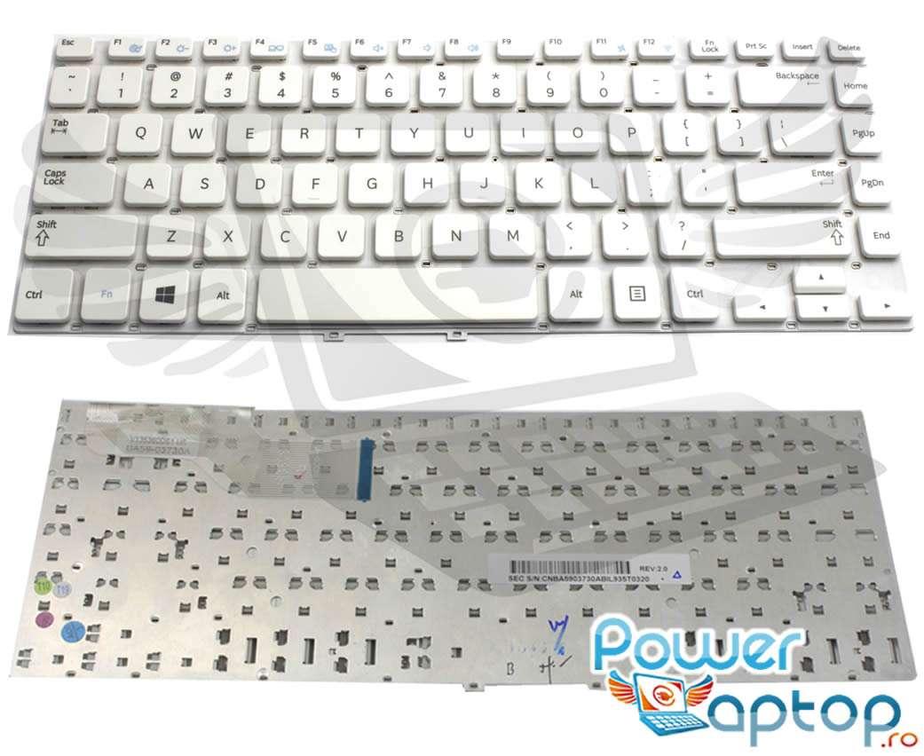 Tastatura alba Samsung NP355V4X layout US fara rama enter mic imagine powerlaptop.ro 2021
