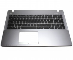 Tastatura Asus  X550ZE neagra cu Palmrest gri. Keyboard Asus  X550ZE neagra cu Palmrest gri. Tastaturi laptop Asus  X550ZE neagra cu Palmrest gri. Tastatura notebook Asus  X550ZE neagra cu Palmrest gri
