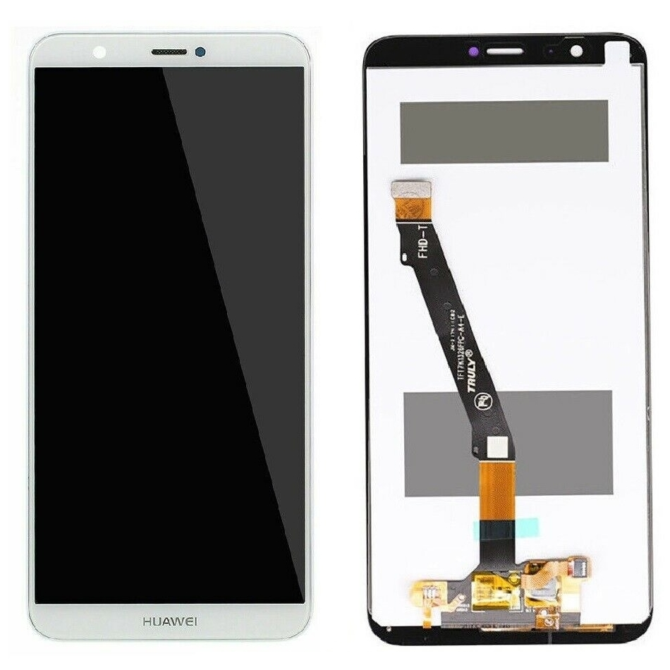 Display Huawei P Smart 2018 White Alb imagine