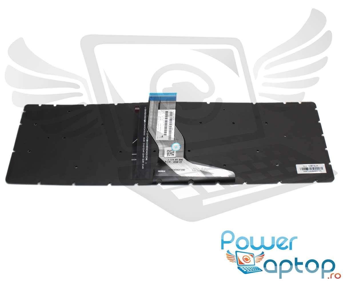 Tastatura Champagne HP 15 bw008AX iluminata layout US fara rama enter mic imagine powerlaptop.ro 2021