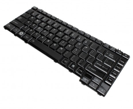 Tastatura Toshiba Qosmio F40 negru lucios. Keyboard Toshiba Qosmio F40 negru lucios. Tastaturi laptop Toshiba Qosmio F40 negru lucios. Tastatura notebook Toshiba Qosmio F40 negru lucios