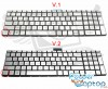 Tastatura HP Pavilion 15-bc009nl argintie iluminata. Keyboard HP Pavilion 15-bc009nl. Tastaturi laptop HP Pavilion 15-bc009nl. Tastatura notebook HP Pavilion 15-bc009nl