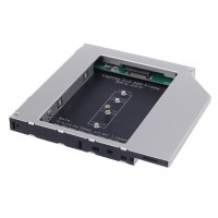 HDD Caddy laptop 12.7mm intern M2 NGFF SSD extern SATA