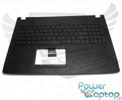 Tastatura Asus  90NB0DR5-R31UI0 neagra cu Palmrest negru iluminata backlit. Keyboard Asus  90NB0DR5-R31UI0 neagra cu Palmrest negru. Tastaturi laptop Asus  90NB0DR5-R31UI0 neagra cu Palmrest negru. Tastatura notebook Asus  90NB0DR5-R31UI0 neagra cu Palmrest negru