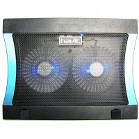 Cooler Stand Laptop Notebook Havit 2 Ventilatoare cu Nivel Reglabil Slot USB si LED